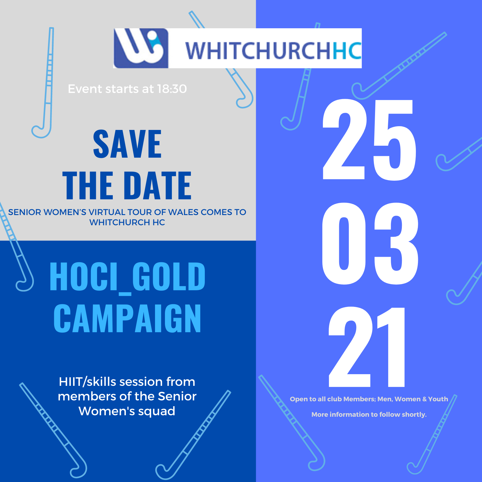 Hoci-Gold Campaign Virtual Tour comes to WHC 25th March 2021